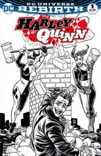 Cover Thumbnail for Harley Quinn (DC, 2016 series) #1 [Comic*Pop Collectibles Exclusive Mike Allred Black and White Variant]