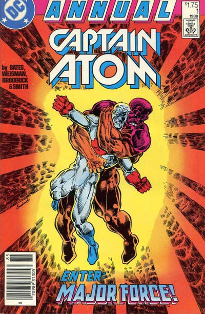 Cover for Captain Atom Annual (DC, 1988 series) #1 [Direct]