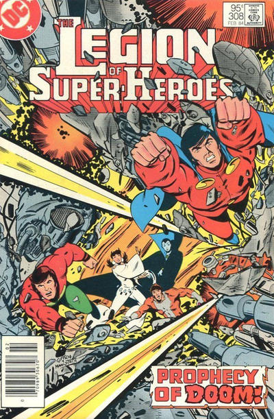Cover for The Legion of Super-Heroes (DC, 1980 series) #308 [Direct]