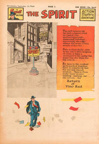 Cover Thumbnail for The Spirit (Register and Tribune Syndicate, 1940 series) #9/25/1949