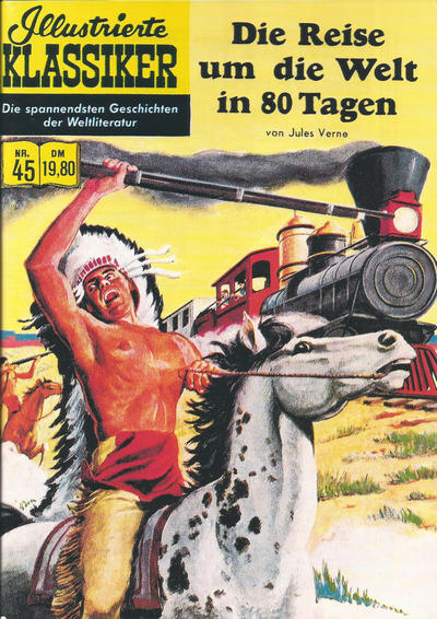 Cover for Illustrierte Klassiker [Classics Illustrated] (Norbert Hethke Verlag, 1991 series) #45 - Die Reise um die Welt in 80 Tagen