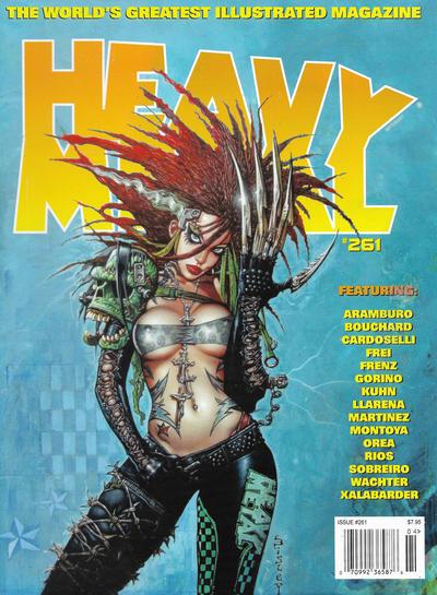 Cover for Heavy Metal Magazine (Heavy Metal, 1977 series) #261 [Diamond Distributors Cover]