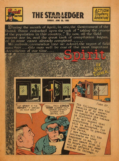 Cover for The Spirit (Register and Tribune Syndicate, 1940 series) #6/25/1950