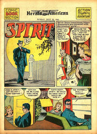 Cover Thumbnail for The Spirit (Register and Tribune Syndicate, 1940 series) #7/22/1945 [Syracuse [NY] Herald American edition]