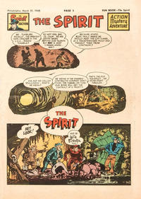 Cover Thumbnail for The Spirit (Register and Tribune Syndicate, 1940 series) #3/21/1948 [Philadelphia Bulletin Edition]