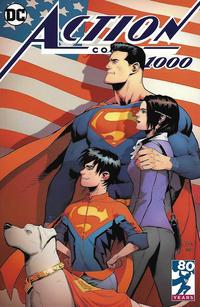 Cover Thumbnail for Action Comics (DC, 2011 series) #1000 [Newbury Comics Exclusive Patrick Gleason Color Cover]