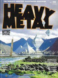 Cover Thumbnail for Heavy Metal Magazine (Heavy Metal, 1977 series) #284 - Mythic Special [Derek Riggs Comic Shops Cover]