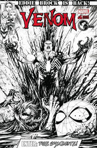 Cover Thumbnail for Venom (Marvel, 2017 series) #6 [Unknown Comics Exclusive Tyler Kirkham Black and White]
