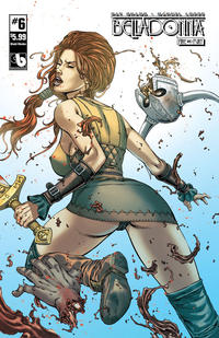 Cover for Belladonna: Fire and Fury (Avatar Press, 2017 series) #6 [Shield Maiden Nude Cover]