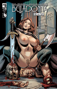 Cover Thumbnail for Belladonna: Fire and Fury (Avatar Press, 2017 series) #6 [Viking Vixen Nude Cover]