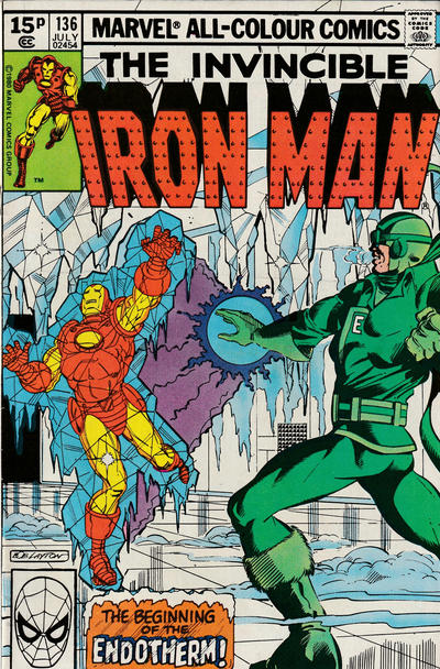 Cover for Iron Man (Marvel, 1968 series) #136 [British]