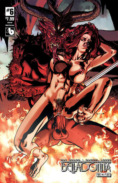 Cover for Belladonna: Fire and Fury (Avatar Press, 2017 series) #6 [Viking Vixen Nude Cover]