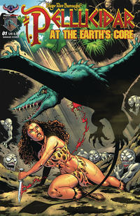 Cover Thumbnail for Pellucidar at the Earth's Core (American Mythology Productions, 2018 series) #1 [Cover B Rich Bonk Savage Variant]