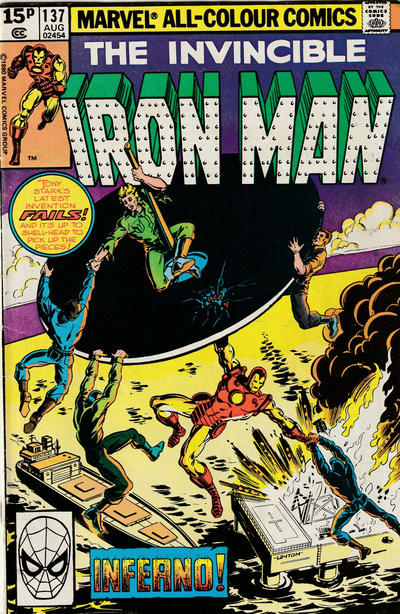 Cover for Iron Man (Marvel, 1968 series) #137 [Newsstand]