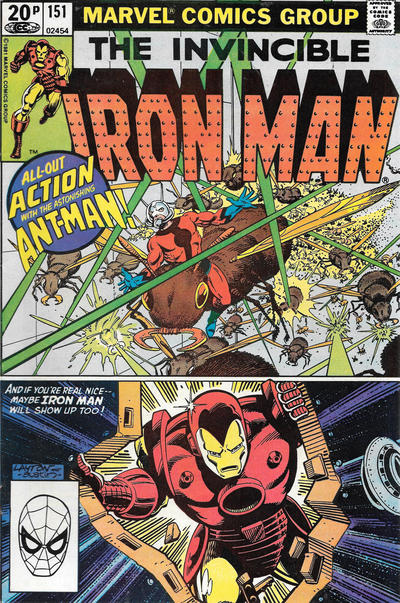 Cover for Iron Man (Marvel, 1968 series) #151 [British]