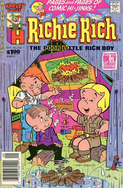 Cover for Richie Rich (Harvey, 1960 series) #250 [Newsstand]