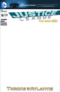 Cover Thumbnail for Justice League (DC, 2011 series) #16 [Blank Variant]
