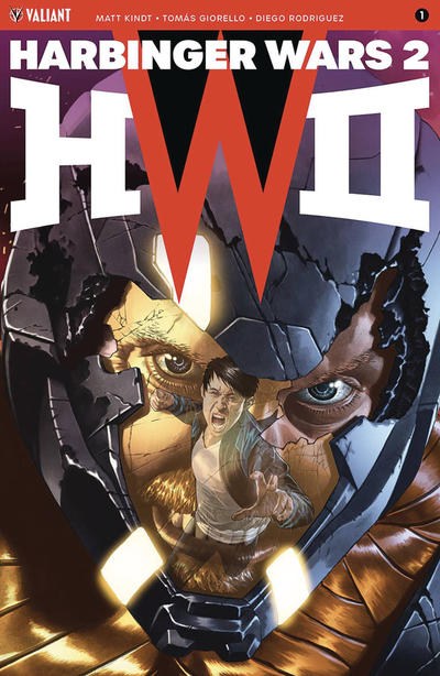 Cover for Harbinger Wars 2 (Valiant Entertainment, 2018 series) #1 [Cover A - J. G. Jones]