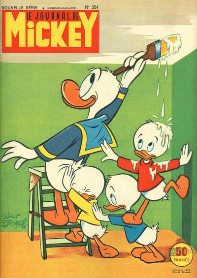 Cover for Le Journal de Mickey (Hachette, 1952 series) #354