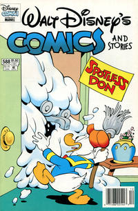 Cover for Walt Disney's Comics and Stories (Gladstone, 1993 series) #588 [Direct]