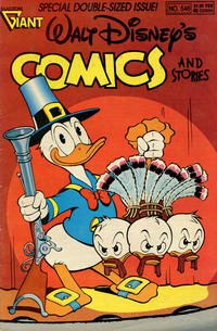 Cover Thumbnail for Walt Disney's Comics and Stories (Gladstone, 1986 series) #546 [Newsstand]