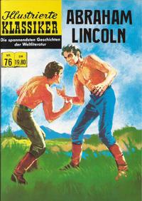 Cover Thumbnail for Illustrierte Klassiker [Classics Illustrated] (Norbert Hethke Verlag, 1991 series) #76 - Abraham Lincoln