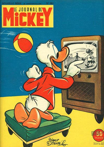 Cover for Le Journal de Mickey (Disney Hachette Presse, 1952 series) #361