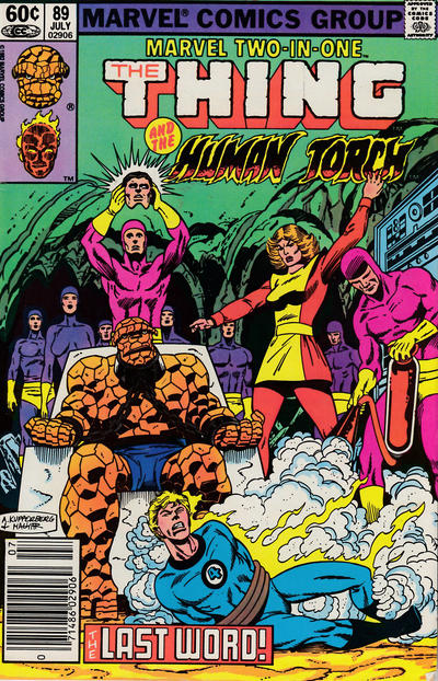 Cover for Marvel Two-in-One (Marvel, 1974 series) #89 [Newsstand]