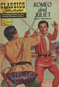 Cover for Classics Illustrated (Gilberton, 1947 series) #134 [O] - Romeo and Juliet [HRN 161]