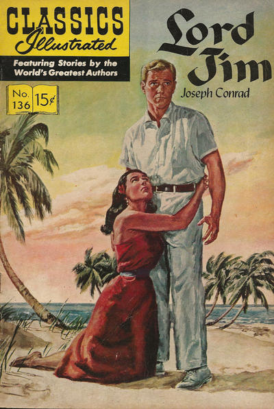 Cover for Classics Illustrated (Gilberton, 1947 series) #136 [O] - Lord Jim [HRN 165]