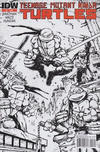 Cover for Teenage Mutant Ninja Turtles (IDW, 2011 series) #1 [Second Printing Variant - Kevin Eastman Black and White with Red Logo]