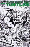 Cover for Teenage Mutant Ninja Turtles (IDW, 2011 series) #1 [Third Printing Variant - Kevin Eastman Black and White with Green Logo]