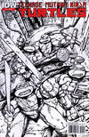 Cover for Teenage Mutant Ninja Turtles (IDW, 2011 series) #2 [Second Printing Variant - Kevin Eastman Black and White with Red Logo]