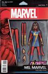 Cover for Ms. Marvel (Marvel, 2016 series) #1 [John Tyler Christopher Action Figure (Ms. Marvel)]