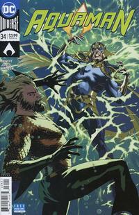 Cover Thumbnail for Aquaman (DC, 2016 series) #34 [Joshua Middleton Variant Cover]