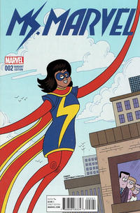 Cover Thumbnail for Ms. Marvel (Marvel, 2016 series) #2 [Incentive Fred Hembeck Variant]