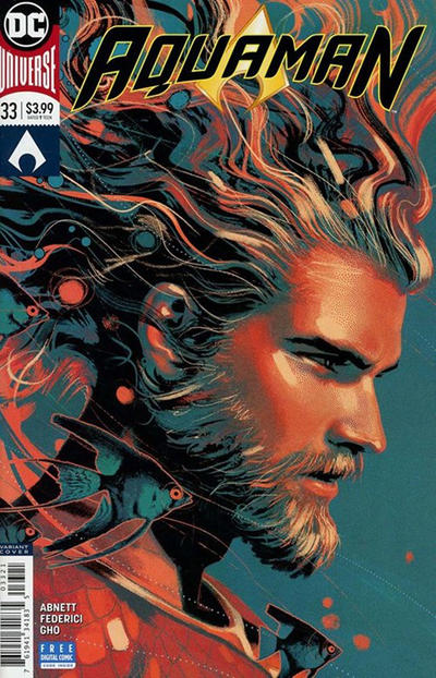 Cover for Aquaman (DC, 2016 series) #33 [Joshua Middleton Variant Cover]
