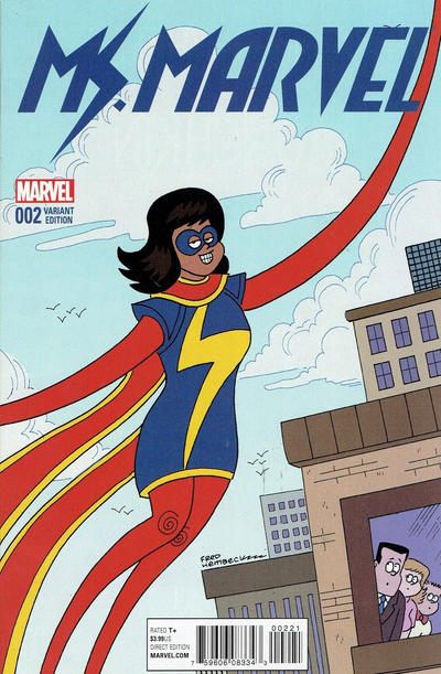 Cover for Ms. Marvel (Marvel, 2016 series) #2 [Incentive Takeshi Miyazawa Variant]