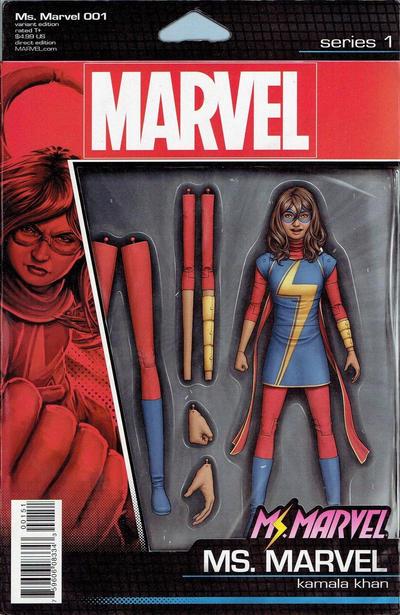 Cover for Ms. Marvel (Marvel, 2016 series) #1 [Jenny Frison Hip-Hop Variant]