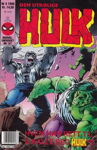 Cover Thumbnail for Hulk (Semic, 1984 series) #4/1990