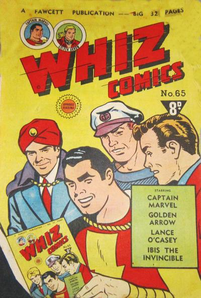 Cover for Whiz Comics (Cleland, 1946 series) #65