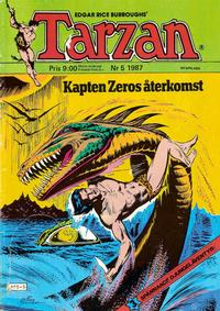 Cover Thumbnail for Tarzan (Atlantic Förlags AB, 1977 series) #5/1987