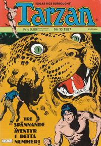 Cover Thumbnail for Tarzan (Atlantic Förlags AB, 1977 series) #10/1987