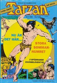 Cover Thumbnail for Tarzan (Atlantic Förlags AB, 1977 series) #7/1989