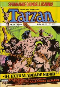 Cover Thumbnail for Tarzan (Atlantic Förlags AB, 1977 series) #11/1989