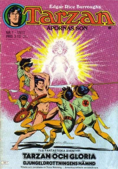 Cover for Tarzan (Atlantic Förlags AB, 1977 series) #1/1977