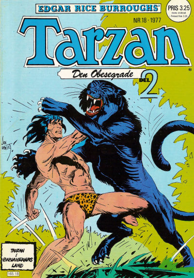 Cover for Tarzan (Atlantic Förlags AB, 1977 series) #18/1977