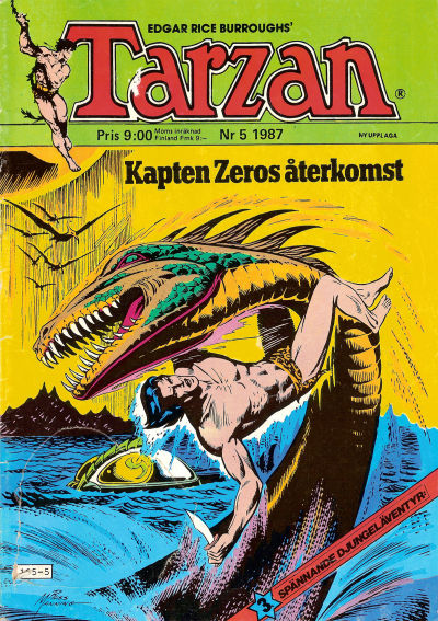 Cover for Tarzan (Atlantic Förlags AB, 1977 series) #5/1987