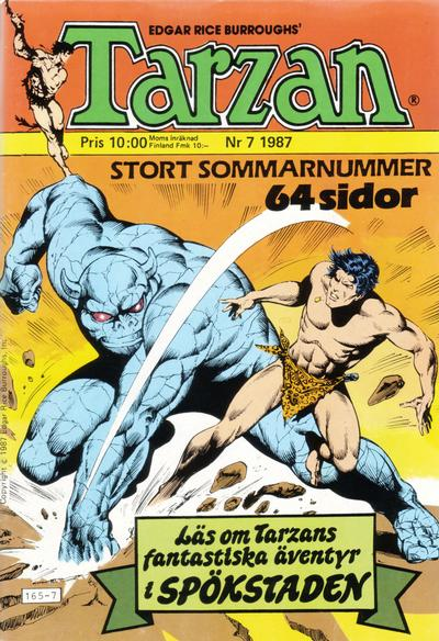 Cover for Tarzan (Atlantic Förlags AB, 1977 series) #7/1987