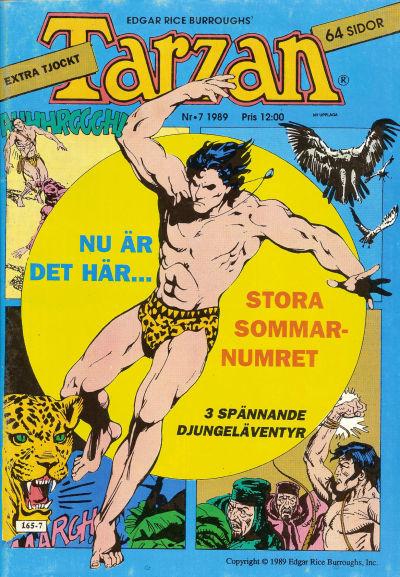 Cover for Tarzan (Atlantic Förlags AB, 1977 series) #7/1989